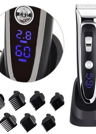 Машинка для стрижки волос Gemei GM-800 LED дисплей GM 800