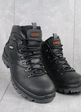 Мужские ботинки кожаные зимние черные storm rxv-2