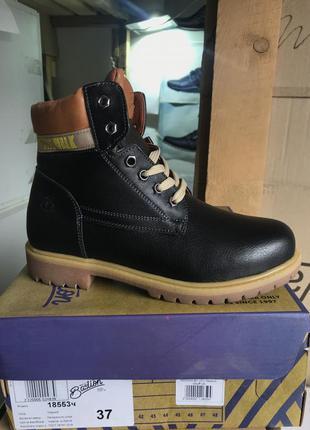 Женские ботинки кожаные зимние черные bastion 18553ч