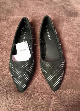 Балетки   острый носок стразы модные sinsay с острыми носками ...