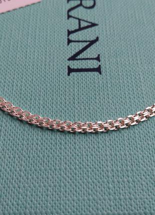 Серебряная цепочка короткая якорное плетение 50 см серебро 925