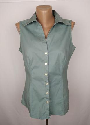 Блуза майка стрейчевая оригинальная красивая uk 12/40/m