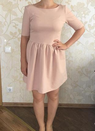 Платье zara, плаття. красива базова сукня, приємного кольору, ...
