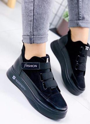 Кроссовки женские высокие черный
