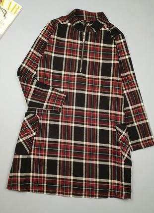 Платье в клетку zara p.l