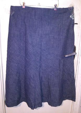 Натуральная,длинная-в пол,джинсовая юбка,большого 24 размера,r...
