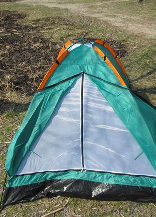 Двухместная палатка летняя туристическая кемпинговая 2.05х1.45х1м