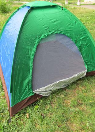 Четырехместная летняя туристическая походная палатка 2х2,5х1,5м