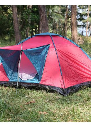 Палатка туристическая походная трёхместная 210 X 210 X 120 см
