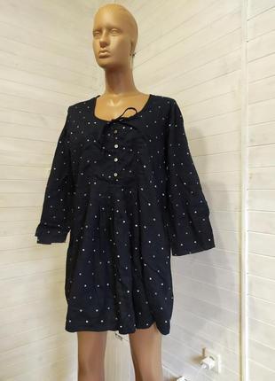Шикарное натуральное  платье,туника l-4xl