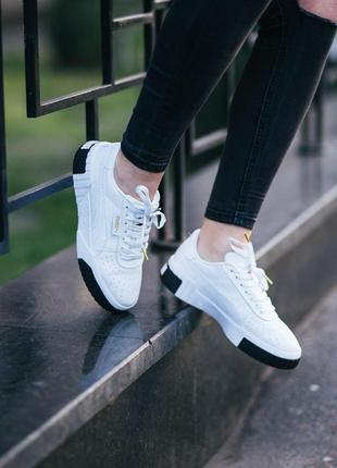 Шикарные женские кроссовки puma cali white black 😍 (весна/ лет...