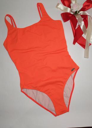Яскраво оранжевий суцільний купальник , розмір 40/l,