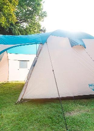 Туристическая походная палатка пятиместная двухслойная