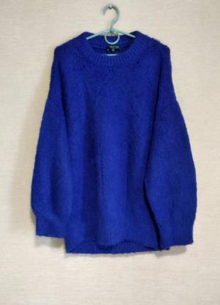 Теплый мягкий свитер джемпер пуловер кофта оверсайз