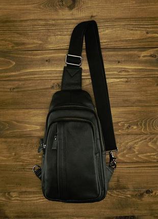 Мужской слинг бананка рюкзак на одну шлейку лямку натуральная ...