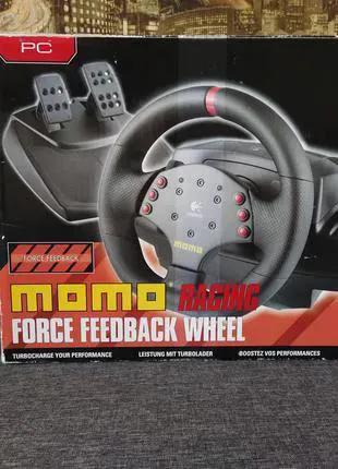 Руль, педали Logitech MOMO Racing Force Feedback Wheel