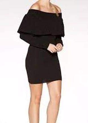 Актуальное вязаное платье со спущенными плечами №29max