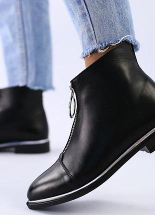 Шикарные женские ботинки. кожа.