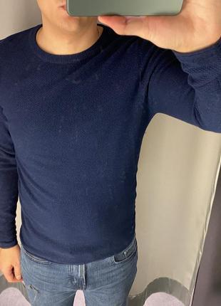 Хлопковый синий свитер smog есть размеры