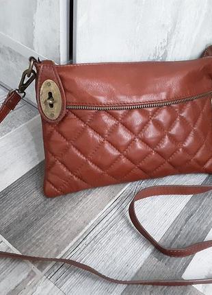 Кожаная сумка кроссбоди borse in pelle