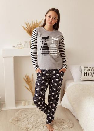 Пижама женская с кошками