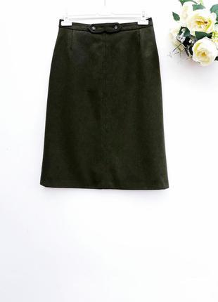 Теплая юбка миди шикарная юбка с плотной ткани