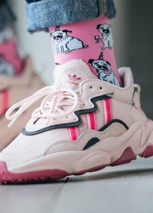 Шикарные женские кроссовки adidas ozweego pink 😍 (весна/ лето/...