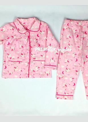 Фланелевая пижама для девочки (86-98 см) primark