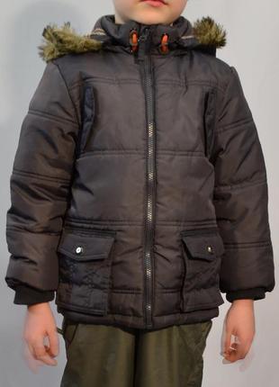 1997\120 зимняя серая куртка f&f на 5-6 лет