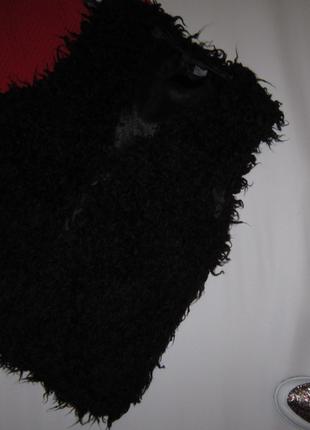 Шикарная меховая жилетка под козочку divided от h&m