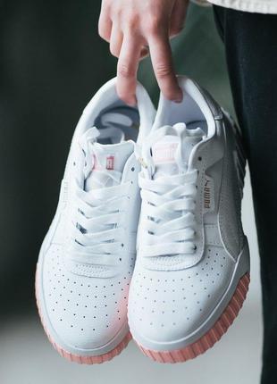 Шикарные женские кроссовки puma cali white pink😍 (весна/ лето/...