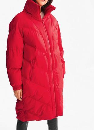Фирменное стеганое объемное пальто одеяло пуховик в стиле овер...