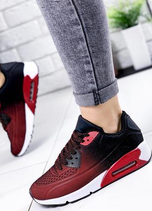 ❤ женские бордовые кроссовки  текстиль  ❤