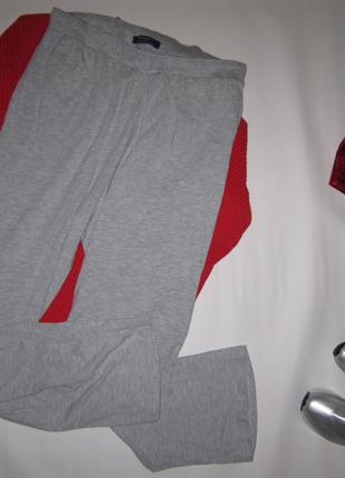 Свободные трикотажные брюки primark в спортивном стиле с поясо...