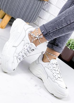 ❤ женские белые кроссовки эко-кожа ❤