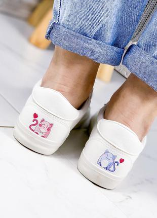 ❤ женские белые кеды кроссовки эко-кожа ❤