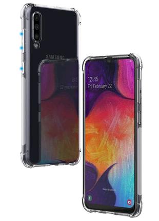 Прозрачный силиконовый чехол для Samsung A50