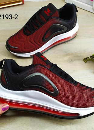 Женские кроссовки в стиле nike air max 720 бордово черные