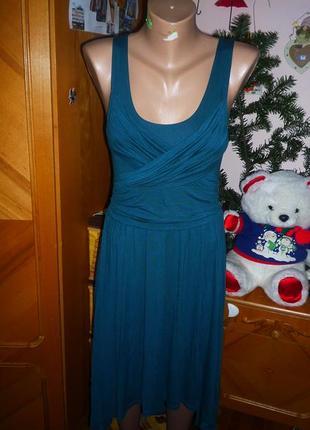 Платье с драпировкой и каскадной юбкой h&m