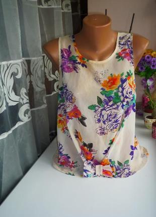 Цветочная блуза, топ new look