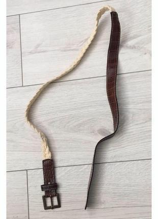 Ремінь, ремінець, ремень коричневий, лот.