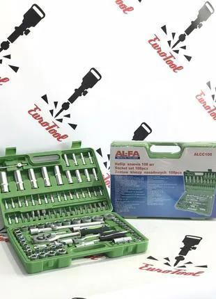 Набор головок ключей инструментов Al-fa 108 елементов Новинка Пол