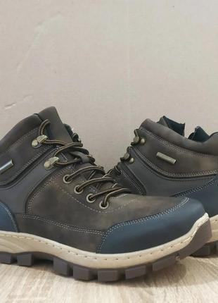 Мужские ботинки, зимние мужские ботинки, ботинки эко кожа