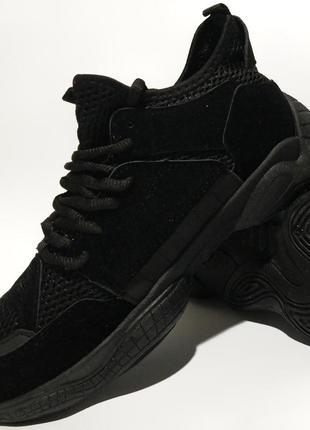 Sale черные кроссовки кеды yzy 500 большие размеры батал