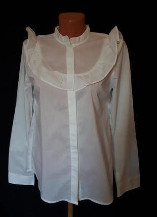 """Стильная француская белая блуза*рубашка в стиле """" винтаж """" jcl..."""