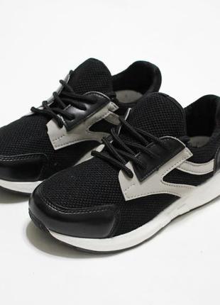 Распродажа! женские черные текстильные кроссовки (кеды)