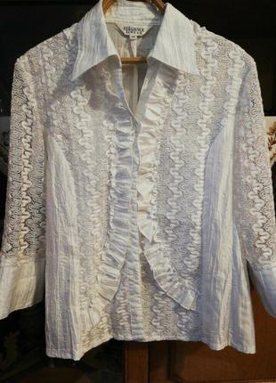 Біла нарядна блуза 54розміру