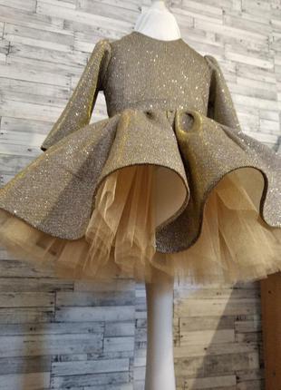 Платье сверкающее для девочки на любой праздник
