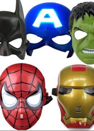 Маска Человек паук Бэтмен Тор Халк Железный человек Дарт Вейдер