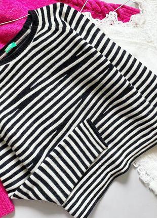 Полосатый свитер benetton